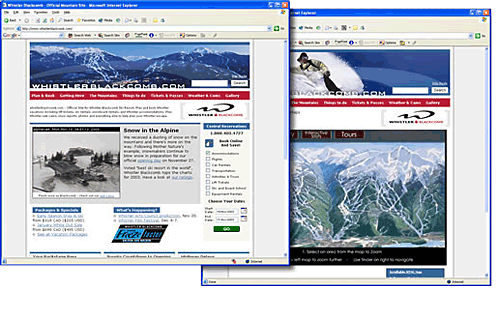 Whistler Blackcomb Web Design